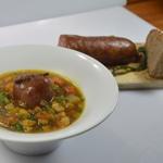Soupe de légumes et saucisse Zoom