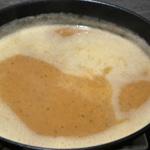 Soupe d'oignons gratinée au mont d'or Laisser réduire la soupe