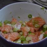 Tagliatelles au saumon fumé Mariner le saumon
