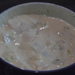 Tagliatelles au saumon fumé Préparer la sauce