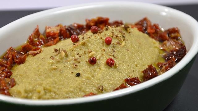 Tapenade olives vertes et tomates