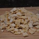 Minestrone et fenouil Couper les pâtes