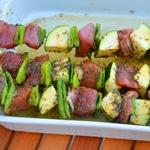 Brochettes de porc et pois gourmands Laisser reposer