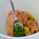 Brochettes de poulet au citron Préparer la marinade