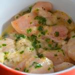 Brochettes de poulet au citron Laisser mariner le poulet