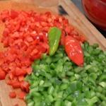Chili con carne au maïs Trancher les poivrons