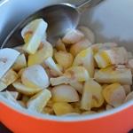 Salade riz Vénéré Trancher les champignons