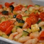 Salade haricots sec Ajouter les courgettes