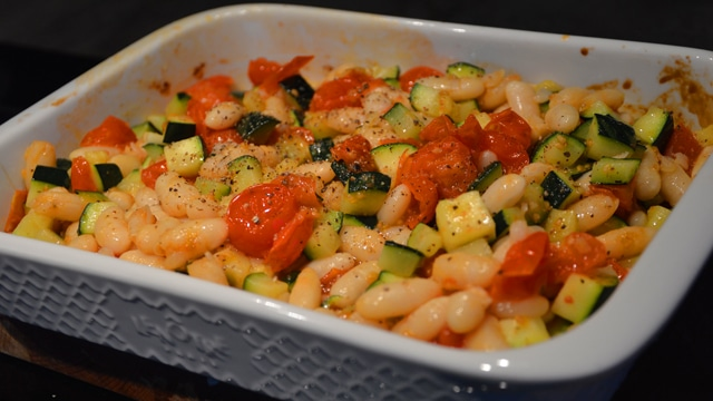 Salade haricots sec