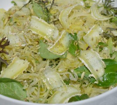 Salade de choucroute Raper le chèvre