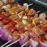 Brochette de poulet à la chinoise Badigeonner