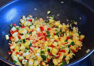 Saisir les légumes