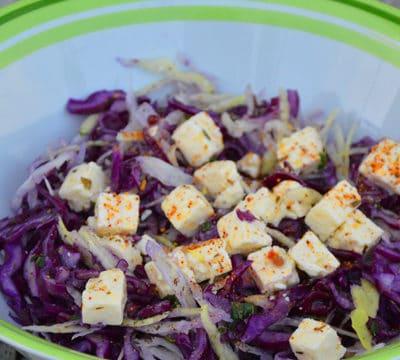 Salade de chou rouge à la feta