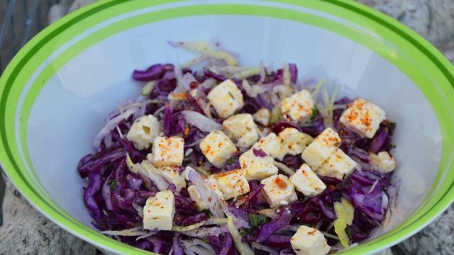 Salade de choux rouge à la feta