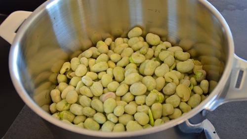 Rincer les fèves