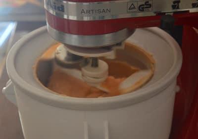 Le sorbet gonfle avec l'air