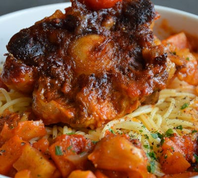 Spaghetti à la queue de boeuf