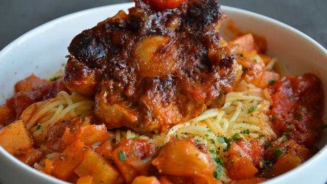 Spaghettis à la queue de bœuf