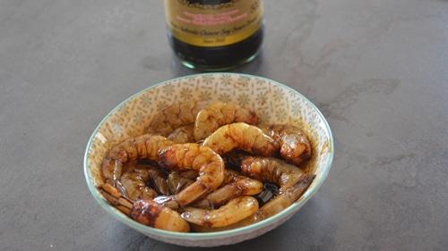 Tremper les crevettes