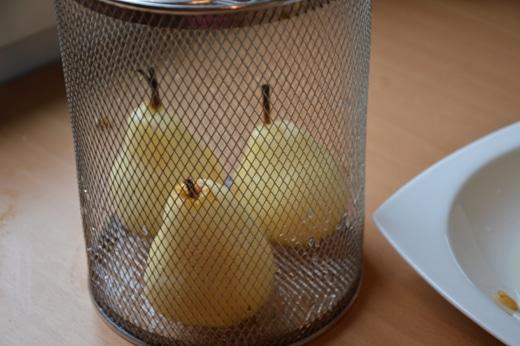 Les poires sont cuites