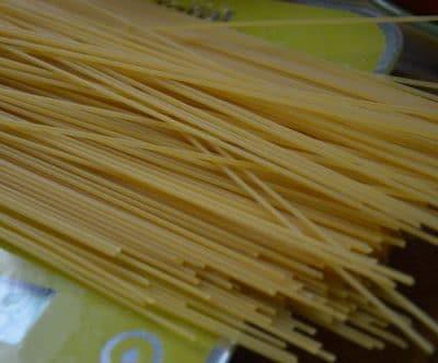 Peser les spaghettis