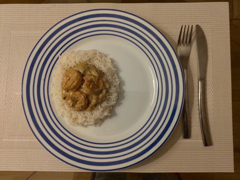 <span class='p-name'>Curry de crevettes au lait de coco</span>